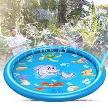 100/150/170cm Inflatable Play Water Mat Sprinkler Pad Toys Swimming Pool Summer Lawn Games Sprinkler Splash Pad For Kids Outdoor