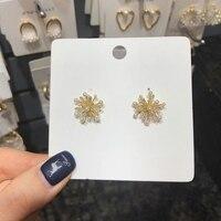 MENGJIQIAO coréen délicat cristal perle feux d'artifice élégant mignon boucles d'oreilles pour les femmes bijoux de mariage accessoires Oorbellen