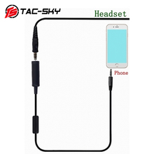 TAC SKY Mobile phone mini PTT tactical headset accessories mobile phone plug 3.5mm for MP3 music adapter Apple Samsung HTC etc.