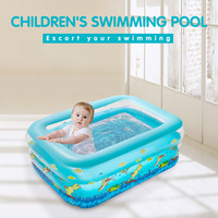 Kids inflatable Pool High Quality Children's Home Use Paddling Pool Large Size Inflatable Square Swimming Pool for baby Плавать