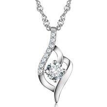 Корейские аксессуары ожерелье из серебра 925 пробы женская подвеска