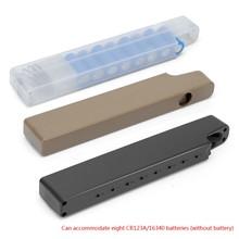 Tactical Hunting Airsoft Function pojemnik na baterie Magazine-style na 8 baterii CR123A/16340 narzędzia zewnętrzne