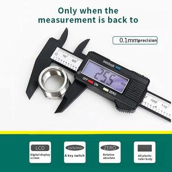 Pinça digital 6 polegada eletrônico vernier caliper pinça micrômetro régua ferramenta de medição 150mm 0.1mm equipamento de medição