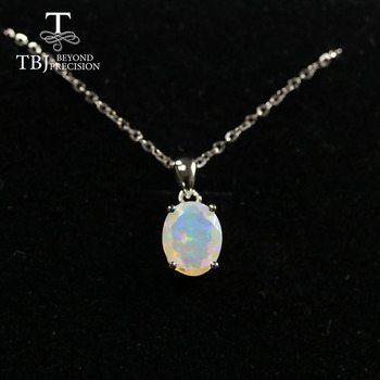 Natural Colorful Tourmaline Pendant necklace ,opal pendant necklace 925 sterling silver fine jewelry for women tbj jewery 2020 цена 2017