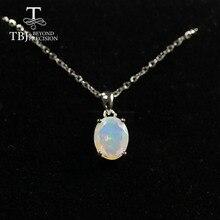 Naturalny kolorowy turmalin naszyjnik, naszyjnik z opalem naszyjnik 925 sterling silver fine jewelry dla kobiet tbj jewery 2020