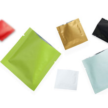 Cor folha de alumínio saco de embalagem de chá calor-selado sacos de alimentos saco de armazenamento separado 100 pçs/lote
