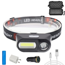 D2 LED налобный фонарь 18650 портативный mini XPE% 2BCOB аккумулятор водонепроницаемый USB фонарик кемпинг налобный фонарь рыбалка налобный фонарь фонарик