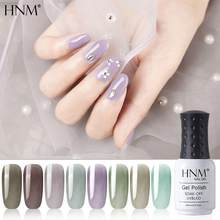 HNM New 8ml Glacier Black UV Gel Nail Polish Narl Art Soak Off Hybrid Varnish LED Lamp Semi Permanent Paint Lucky Lacquer Enamel(China)