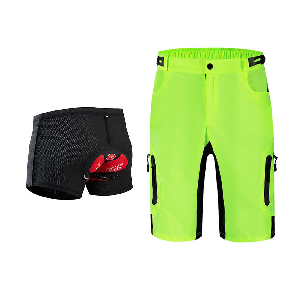 Bicycle Baggy Cycling Shorts Gel Padded Underwear Bike Sports Casual Pants
