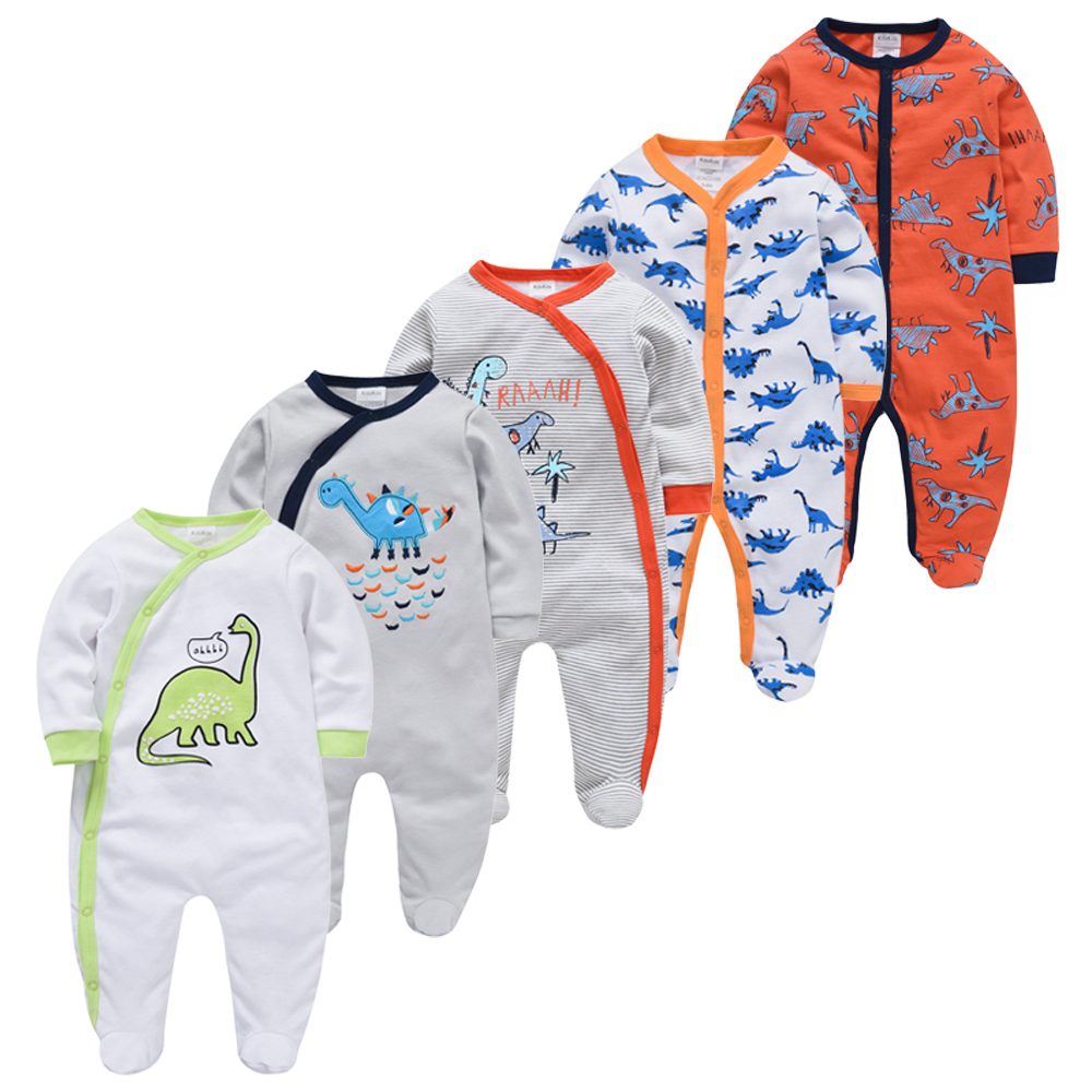 5pcs/set Sleepers Baby Pyjamas Newborn Girl Boy Pijamas Bebe Fille Cotton Breathable Soft Ropa Bebe Baby Pjiamas