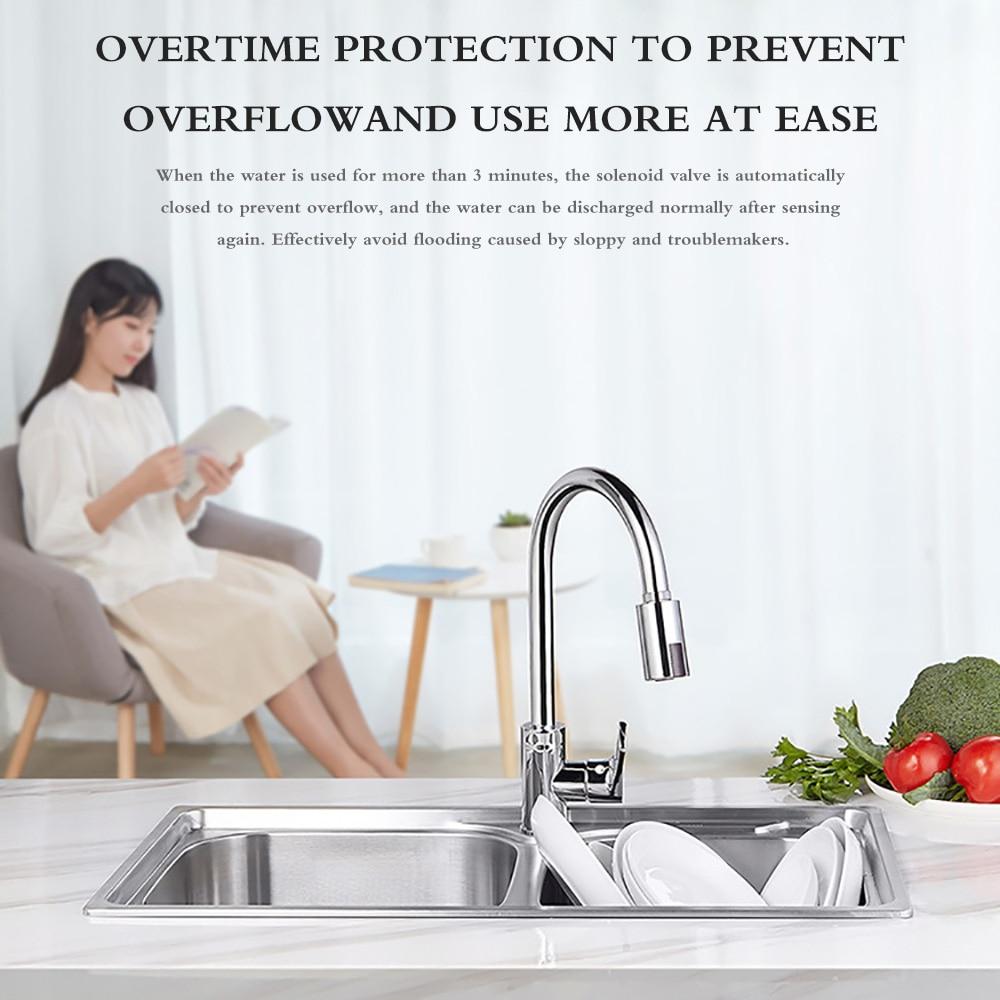 Hb0ac9fb2ff2c4091a4412d0a905c7eafg Smart Sensor Kitchen Faucets Water-Saving Sensor Non-Contact Faucet Infrared Sensor Adapter For Kitchen Bathroom sensor Faucet