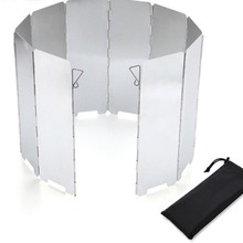 Camping-Equipment Stove-Windshield Cooking Outdoor 10-Plate Windbreak Gas-Stove Foldable