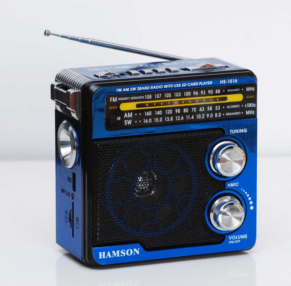 Mini Draagbare Radio Handheld Digitale Am/Fm/Sw Usb Tf/Sd MP3 Player Speaker Oplaadbare