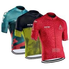 2019 NW Northwave Jerseys de Ciclismo para hombres camisetas de manga corta bicicleta MTB Jeresy Ropa de Ciclismo Ropa Maillot Ciclismo