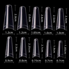 New 100pcs/pack Acrylic False Fake Nail Art Fingernail Oval Professional ABS Full Cover Pointed Fasle Nails Manicure Tips