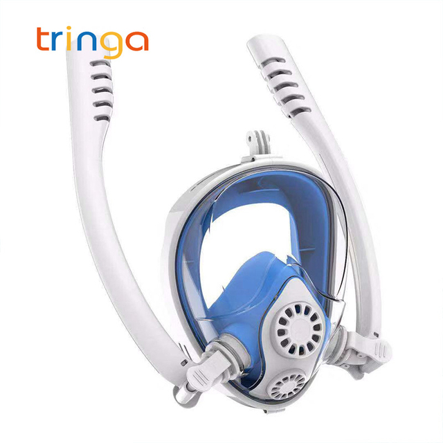 Diving Mask for Adult&Kids Underwater Anti Fog Full Face Snorkeling Swimming Diving Mask K2 Breathing Separation Snorkel Mask