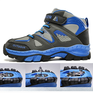 Image 1 - Boys Casual Shoes Winter Warm Children Sneakers High top Anti Slip Kids Trainers Waterproof Sport Footwear Fashion Autumn Rubber
