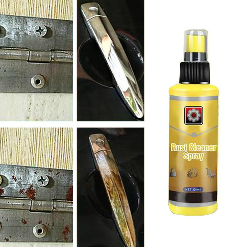 120ml Rust Remover Window Rust Inhibitor Wheel Hub Screw Derusting Spray For Derusting Metal Parts Car Maintenance Cleaning