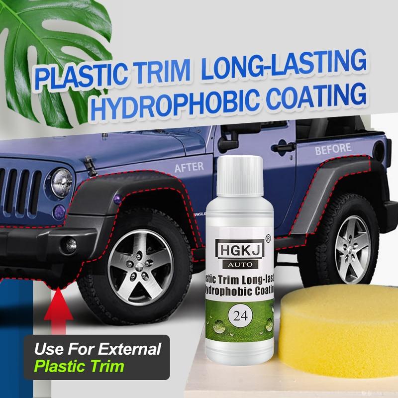 HGKJ AUTO-24-20ml пластиковая отделка, долговечное гидрофобное покрытие, автомобильные аксессуары, протектор для очистки внешней пластиковой отде...