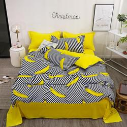 3 lub 4 sztuk/zestaw owoce Banana wzór  zestaw pościeli podszewki na łóżko kołdra pokrywa domu prześcieradło poszewki na poduszki zestaw