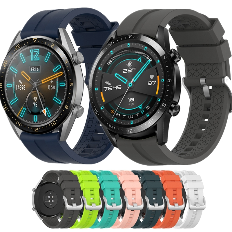 YUEDAER 22MM Silicon Watchband For Huawei Watch GT 2 Band TPU Strap For Huawei Wacth GT GT2 46mm Sport Watch Accessories