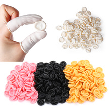 100Pcs Disposable Fingertips Protector Gloves Natural Rubber Non-slip Anti-static Latex Finger Cots Fingertips Durable Tool