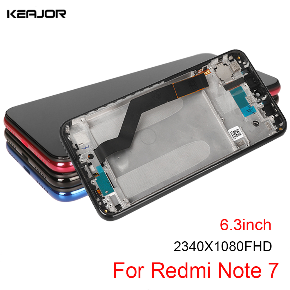 <font><b>LCD</b></font> Display For Xiaomi <font><b>Redmi</b></font> <font><b>Note</b></font> <font><b>7</b></font> <font><b>LCD</b></font> Screen AAA Quality Touch Screen For Xiaomi <font><b>Redmi</b></font> <font><b>Note</b></font> <font><b>7</b></font> <font><b>Pro</b></font> Replacement Parts With Frame image