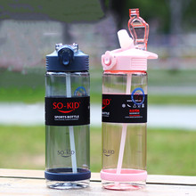 Bounce-Cover Straw-Water-Bottle Drinkware Plastic Bpa-Free Healthy Portable 500ml/800ml
