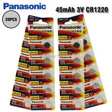 Panasonic 100% оригинальный CR1220 20 шт. батарейка для часов автомобильный пульт дистанционного управления cr 1220 ECR1220 GPCR1220 3 В литиевая батарея