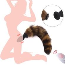 Juguete sexual, tapón Anal de cola de zorro, vibrador inalámbrico remoto, vibrador Anal para parejas y adultos, accesorios de Cosplay