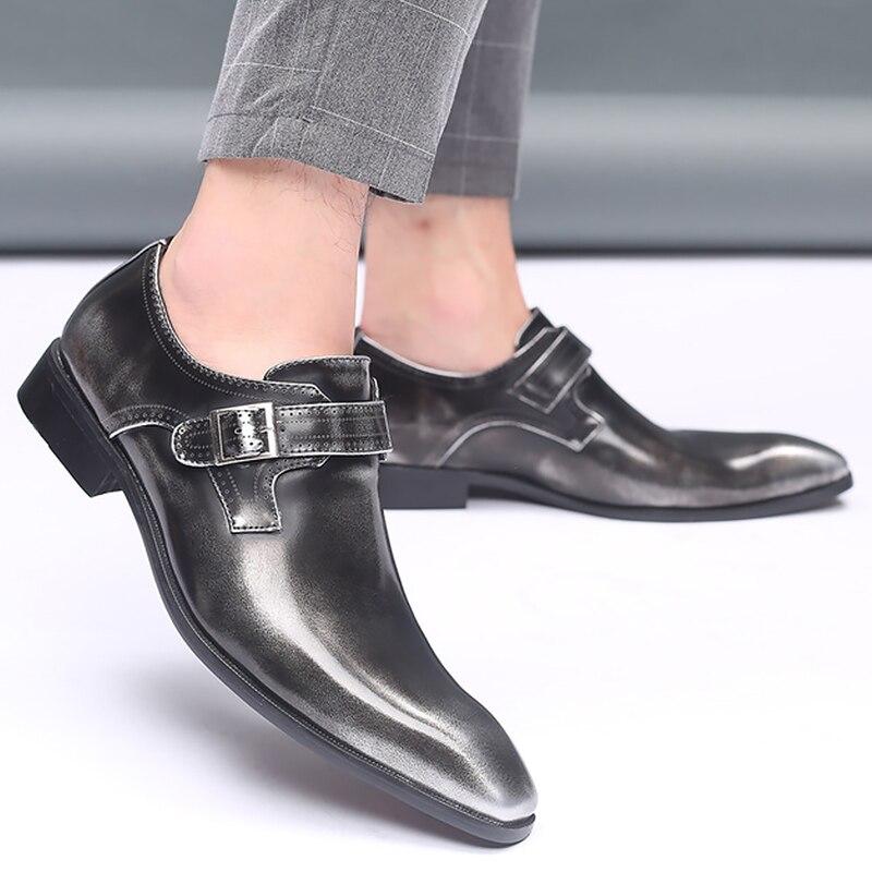 Men Shoes Leather Plus Size 45-48 Solid Hasp Wear-resistant Driving Shoes Men Rubber Designer Shoes Men High Quality