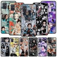 Caso de teléfono para Samsung Galaxy A32 A52 A72 4G A21S A51 A50 A70 A71 A12 UE A10S A10 A20E A30 de Kimetsu No Yaiba demonio asesino