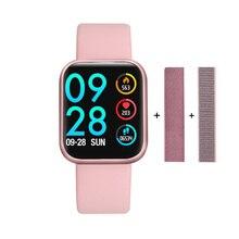 חכם שעון P80 Smartwatch גברים נשים ארוך המתנה IP68 עמיד למים מסר שיחת תזכורת פעיל Tracker עבור IOS אנדרואיד VS B57