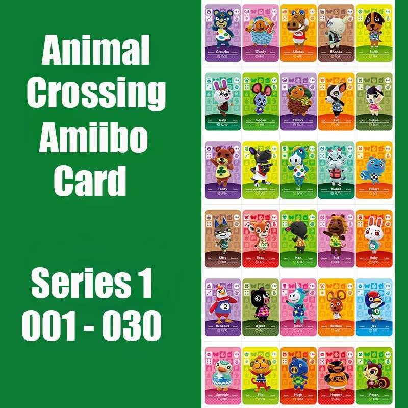 Series 1 (001 To 030) Animal Crossing Card Amiibo Card Work For NS 3DS Switch Game Animal Crossing Amiibo Card 1:1 Copy Original