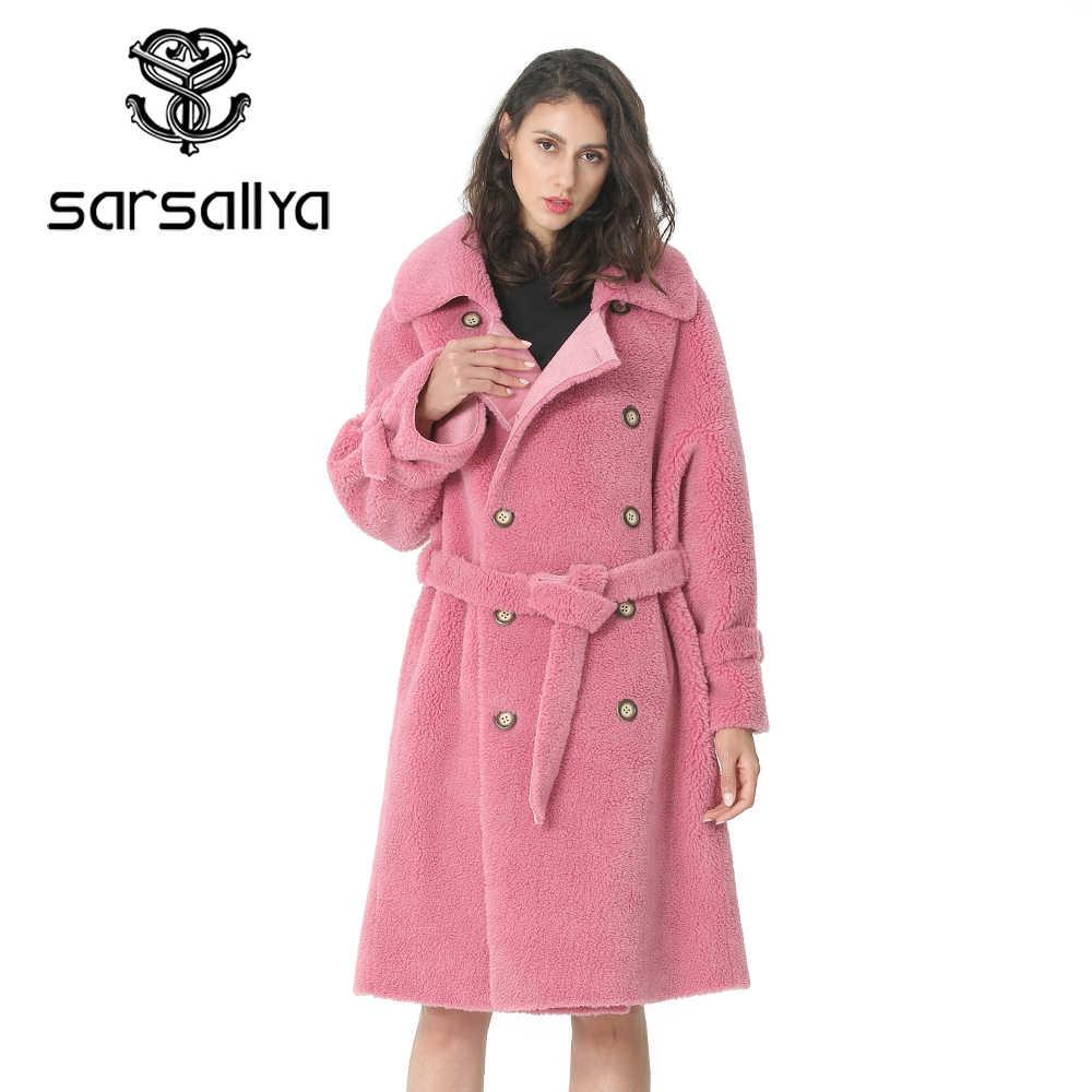 Зимнее женское Шерстяное Пальто, длинное хлопковое двубортное черное пальто, женская верхняя одежда, модное женское пальто 2019