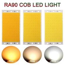 94x50 мм 12V 20W RA 90 ультратонкое естественное освещение CRI светодиодный светильник Панель COB Панель округлая панель с лампочками для Desklamp Подсве...