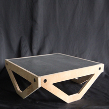 wooden stage table with stainless steel mesh 3mm holes for stop motion animation studio