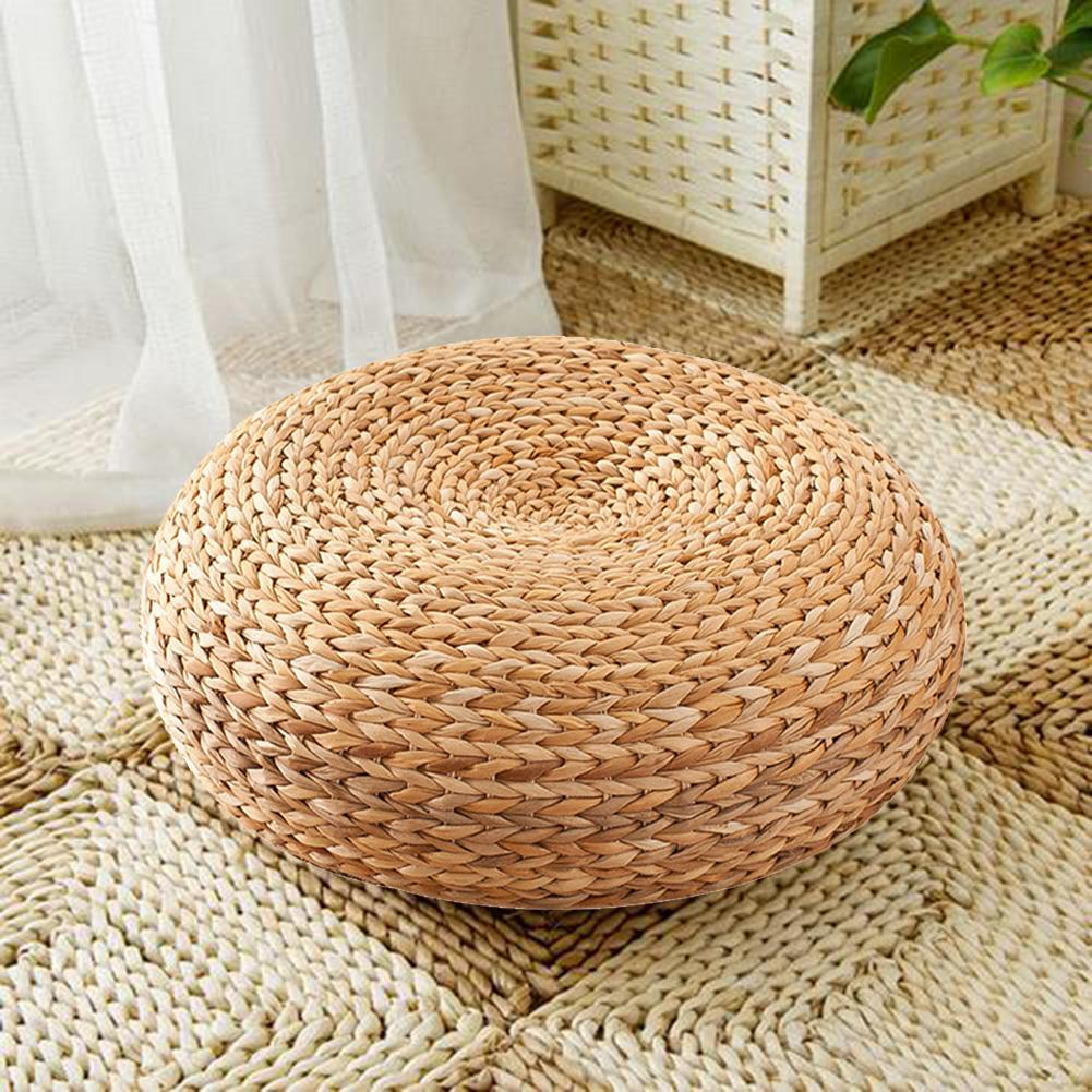 Handmade Straw Cushion Thickened Round Yoga Floor Mat For Meditation Rest Home Decoration Dropshipping 2019 New