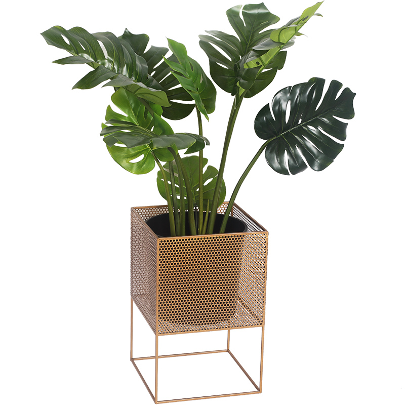 NEW Nordic Wrought Iron Flower Stand Indoor Porch Living Room Balcony Green Dill Metal Flower Pot Floor Stand