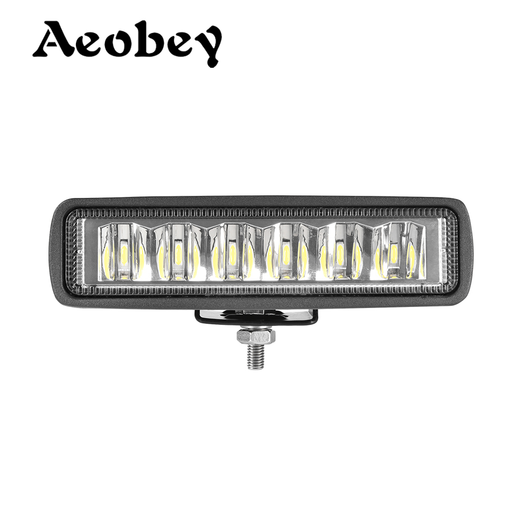 Slim LED Light Bar 18W 6inch 6LED Waterproof IP68 Work Light Spot Flood Beam For Work Driving Offroad Boat Car Tractor Truck