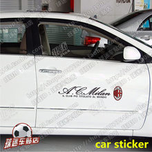цена AC Milan football team car sticker door windshield rearview mirror door handle sticker AC Milan fans supplies онлайн в 2017 году