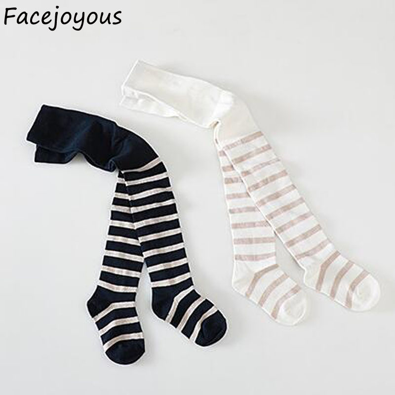 Girls Pantyhose Tights Boutique Kids Clothing Children Cotton Bottoming Tights Clothes Toddler Baby Girl Striped Long Stockings