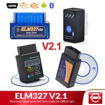 Elm327 bluetooth v2.1 para android torque obd 2 interface obd2 scanner super mini elm 327 suporte obdii protocolos leitor de código