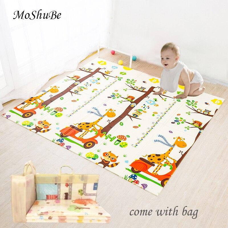 Детский игровой коврик, водонепроницаемый мягкий напольный игровой коврик XPE, складной коврик для ползания, детский игровой коврик, раньше, ...