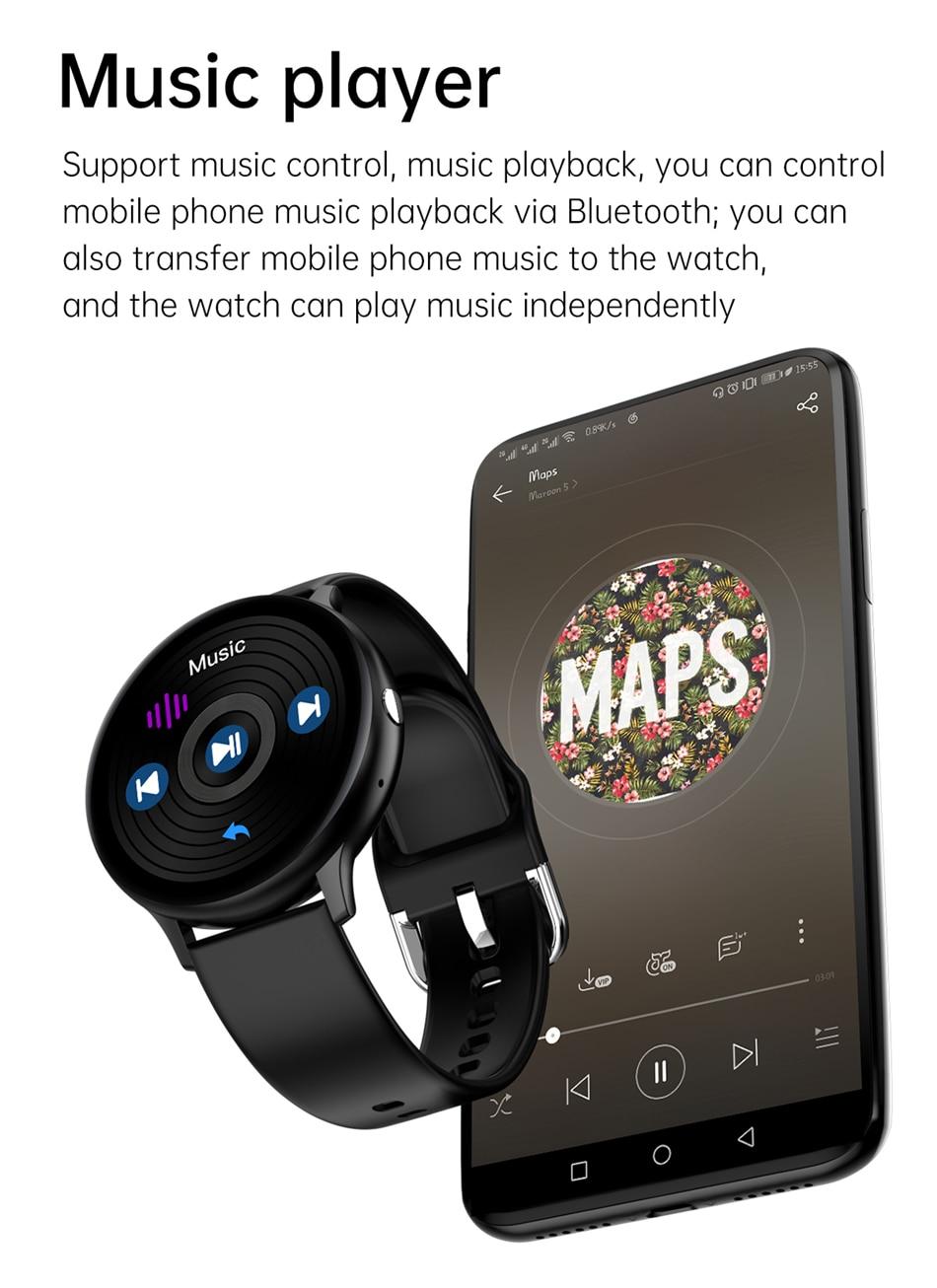 Hb0aea108ed774ea8bd676782da47e708D LIGE New Smart Bluetooth Call Watch Men Women Heart Rate Sports fitness tracker Bracelet Watch Man for Android IOS Xiaomi Huawei