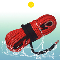 Free Shipping Red 14mm*45m Synthetic Winch Rope,ATV Winch Cable,UHMWPE Rope,4x4 Off road Rope