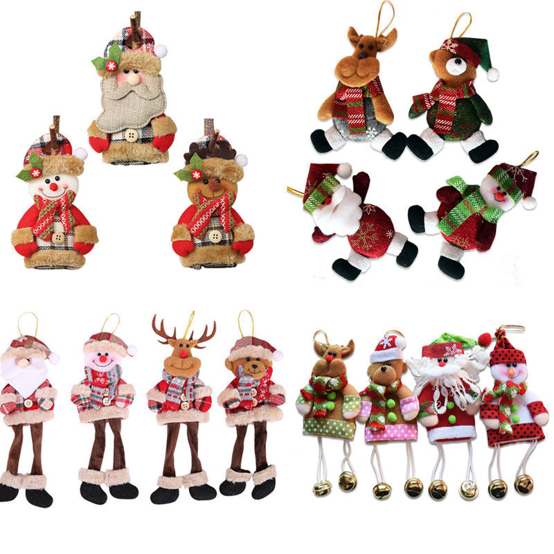 Christmas Baubles Tree Hanging Ornaments Craft Children Gift Toys Xmas Festival Home Decorations Length 18cm SD366