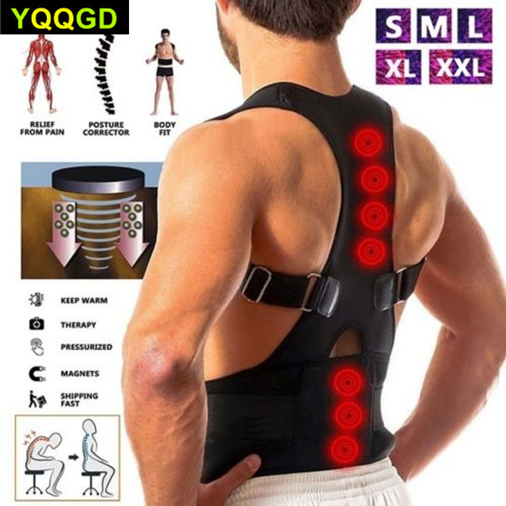1Pcs Magnetic Posture Corrector Back Braces Shoulder Waist Lumbar Support Belt Humpback Prevent Body Straighten Slouch Compressi