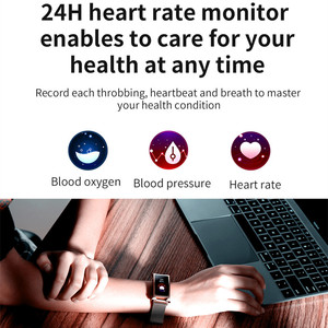 Image 3 - ONEVAN Smart Watch Heart Bracelet Blood Pressure Oxygen Monitor Weather Activity Tracker Women Fitness Bracelet With Metal Band