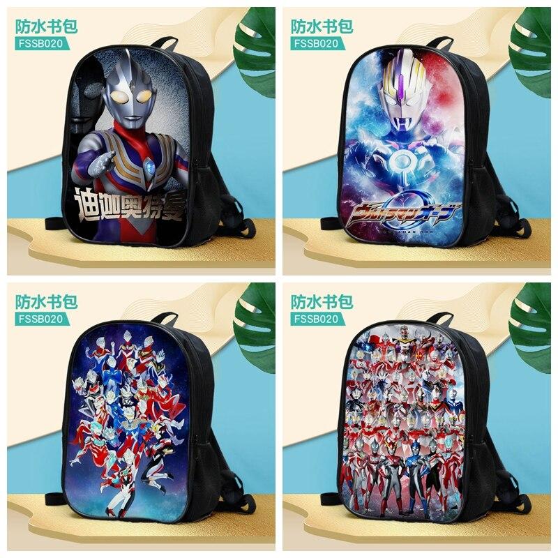Ultraman Fashion Anime Customized Backpacks Rucksacks School Backpack Casual Bags Travel Knapsack Unisex New